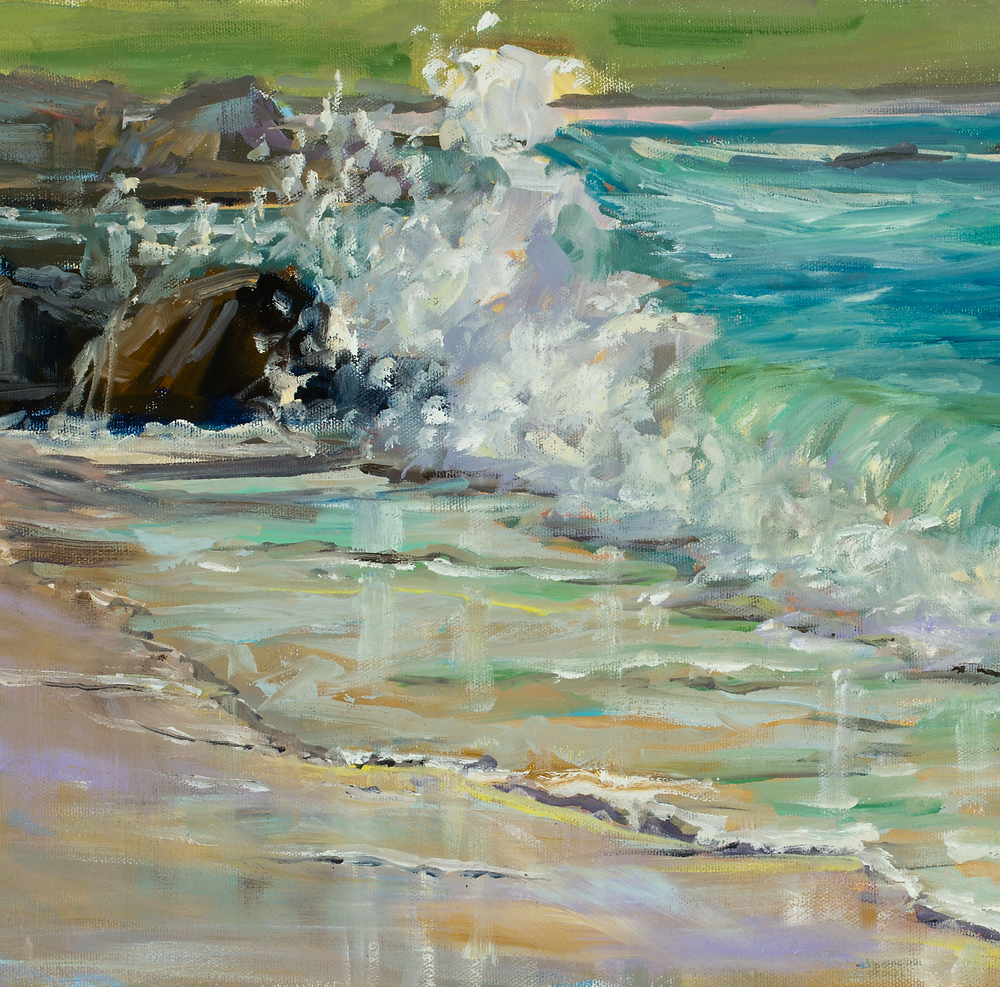 detail of Carmel Splash, by Marie Massey