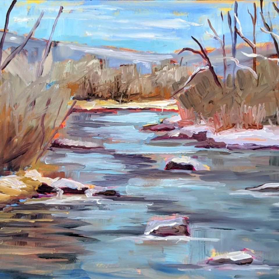 Winter River, by Marie Massey