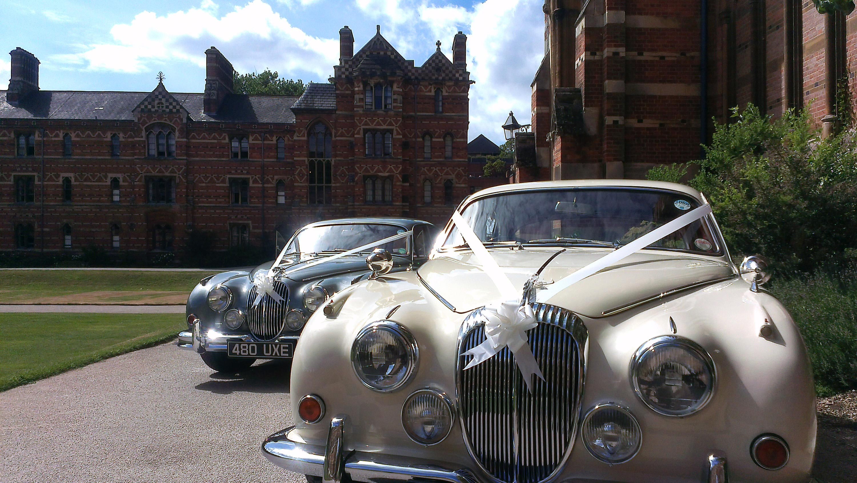 Daimler with the Jag at Oxford