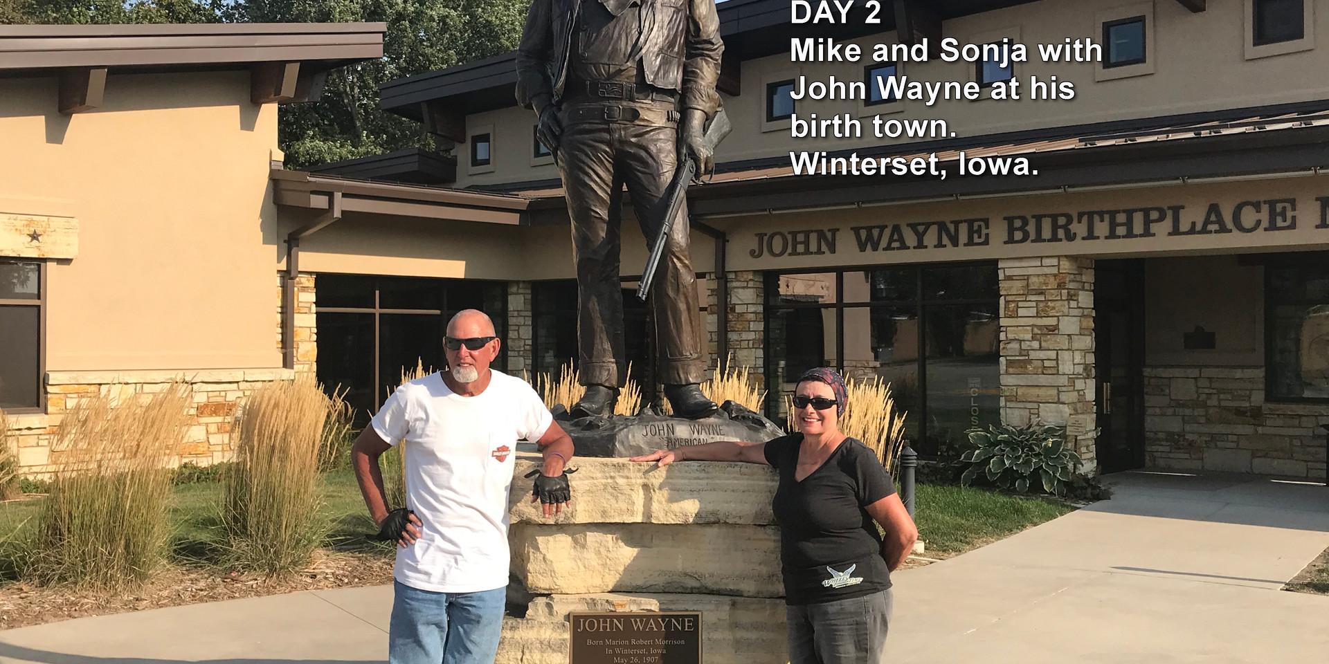 Mike and Sonja with John Wayne.jpg
