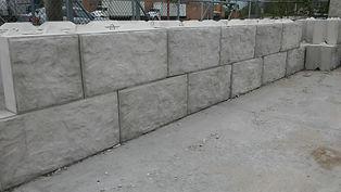 Rock-Faced, Rock-faced v-interlock block, v-interlock, large block