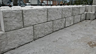 Rock-Faced, Rock-faced v-interlock block, v-interlock, large block