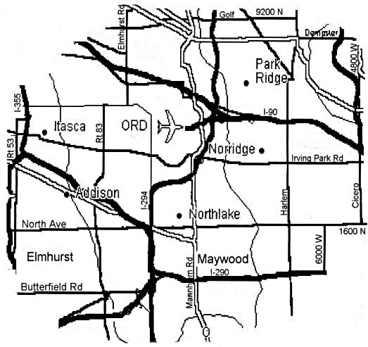 We deliver ready mix concrete to the area shown on the map