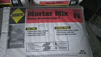 Mortar Mix, Type N Mortar Mix