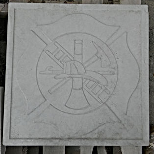 Chicago Fire, Chicago Fire department, Chicago Fire Department Stamped Patio Block, Patio Block