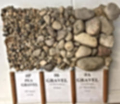 CA-16, 3/8 gravel, pea gravel, #6 Gravel, 3/4 River Rock, B Stone, #A Gravel, Countryside, 1 1/2 River Rock, CA-5