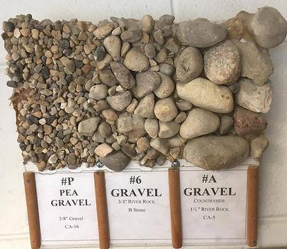 CA-16, 3/8 gravel, pea gravel, #6 Gravel, 3/4 River Rock, B Stone, #A Gravel, Countryside, 1 1/2 River Rock, CA-5