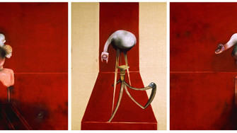 On top - Francis Bacon - Second Version, Triptych 1944 (Large Version)