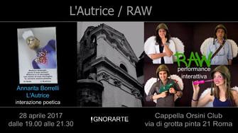Cappella Orsini Club - L'Autrice/RAW