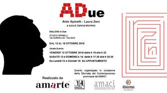 """""""A Due"""" - ALDO SPINELLI e LAURA ZENI in un dialogo tra Arte e Design"""