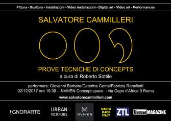 """Salvatore Cammilleri - """"Prove tecniche di concepts"""" a cura di Roberto Sottile"""