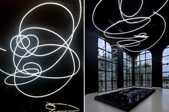 On top - Lucio Fontana - Tweet Struttura al neon per la IX Triennale di Milano