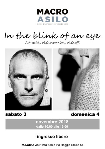 """In the blink of an eye"" Performance art di  A.Meschi, M.Giovannini, M.Cioffi"