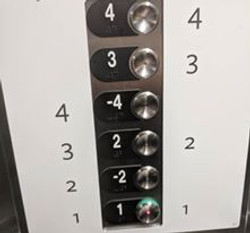 elevator with weird buttons posted by Cl