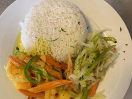 Coconut Curry Shrimp Meal