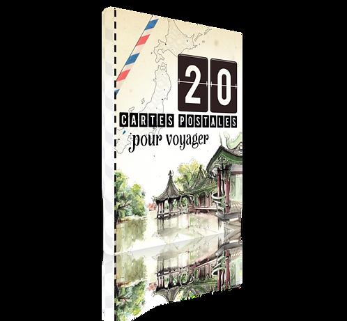 20 cartes postales pour voyager