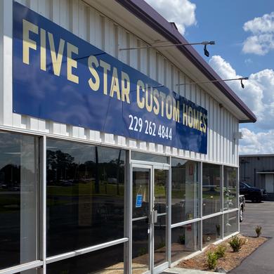 Five Star Custom Homes Sign