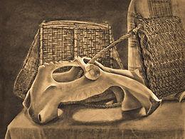 Saigen Conrad Death's Basket Still Life.