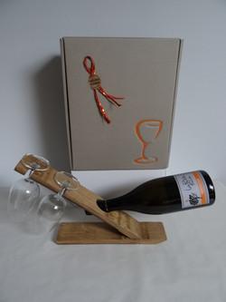 Support bouteille et verres