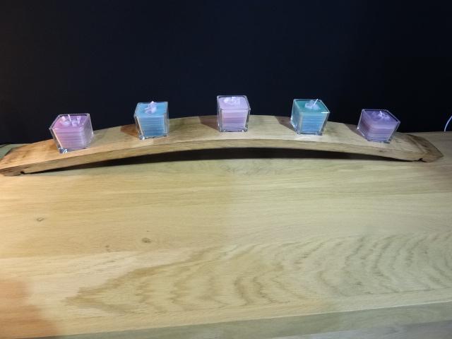 Bougies sur douelle