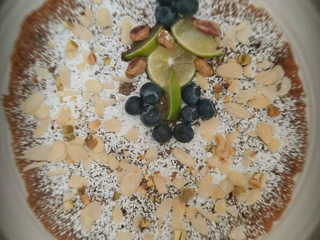 Blueberry, Lime and Polenta Cake