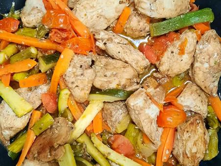 One Pan Balsamic Chicken and Veggies