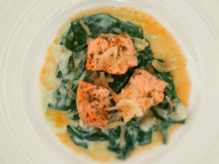 Grilled Salmon Cubes