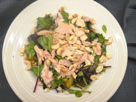 Trout with Mixed Salad and Lime Dressing