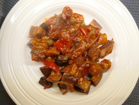 Balsamic Peppers and Aubergines