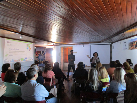 """Presentation of the mobile application """"TeachOUT – outdoor science game"""" in Naturtejo Geop"""