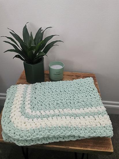 Nanny's Blanket - Spearmint & Cream