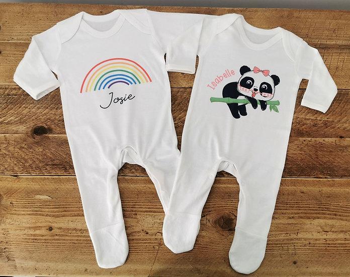 Tubie Cheeks Personalised Babygrow