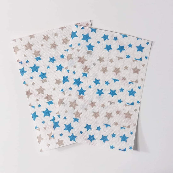 Grey & Blue Stars