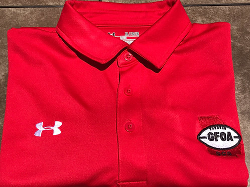 GFOA Under Armor Polo Shirt (Red)