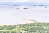 Nallikarin uimaranta ilmasta käsin