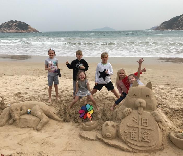 Sandcastle fun day