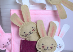 Free patterns for mini-stitchers:  Easter Bunny