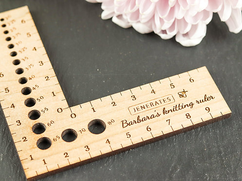 Bespoke Jenerates Knitting Ruler