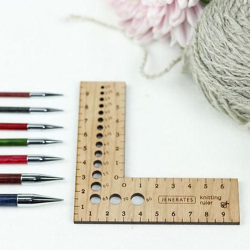 Jenerates Knitting Ruler