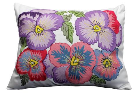 Cuscino con ricamo fiori