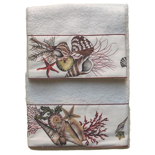 asciugamani con disegni marini