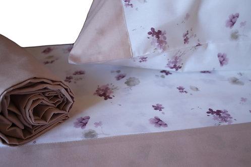 """Completo letto """"Violetta"""" cotone 100%"""