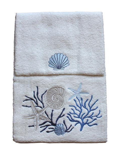 asciugamani con coralli
