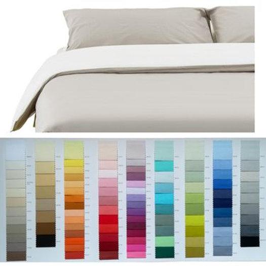 Sacco Copripiumino Matrimoniale 270x270.Sacco Copripiumino Bicolore Cotone 100 Scegli I Colori