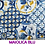 tovaglia maiolica blu