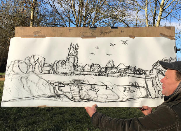 Working on: Park Life Drawing in Progress
