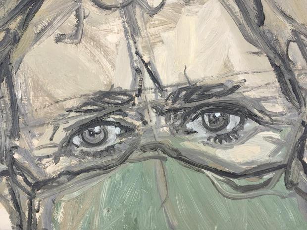 Lockdown Hair Unkempt Self-Portrait 2 (detail)
