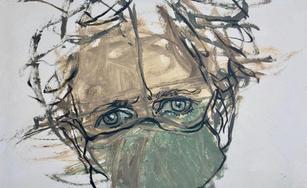 Lockdown Hair, Unkempt Self-Portrait 1