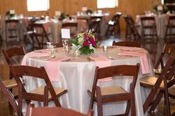 blush wedding reception