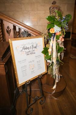 Winter wedding seating chart